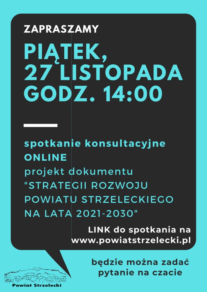 OGŁOSZENIE spotkanie online 27-11-2020