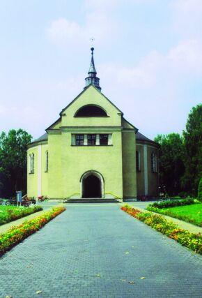Kliknij, aby powiększyć opis: Kościół pw. Niepokalanego Serca Maryi w Kolonowskiem rozmiar: 2,27 KB pobrań: 11456 data: 2005-06-17 14:07:45